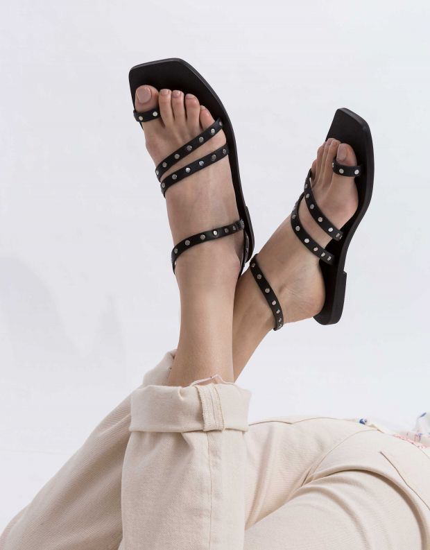 נעלי נשים - SOL SANA - סנדלים MOONIE SLIDE - שחור