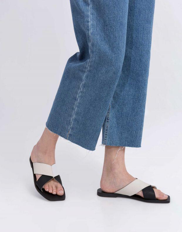 נעלי נשים - SOL SANA - כפכפים שטוחים איקס JULIAN - לבן   שחור