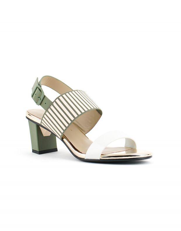 נעלי נשים - United Nude - סנדלי POP MID - לבן   ירוק