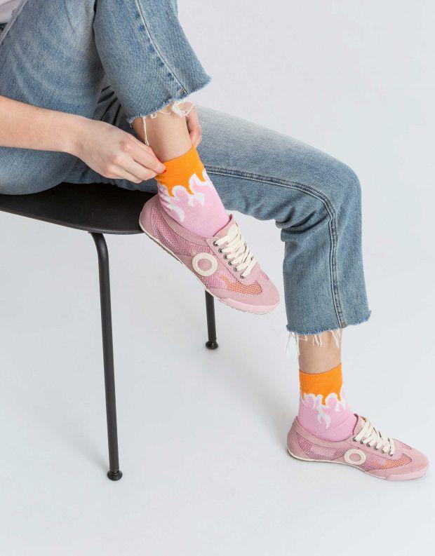נעלי נשים - Aro - סניקרס JOANETA - ורוד בהיר
