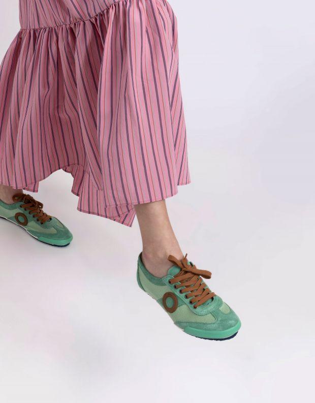 נעלי נשים - Aro - סניקרס JOANETA - ירוק   חום