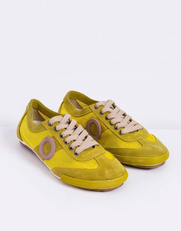 נעלי נשים - Aro - סניקרס JOANETA - צהוב   ורוד
