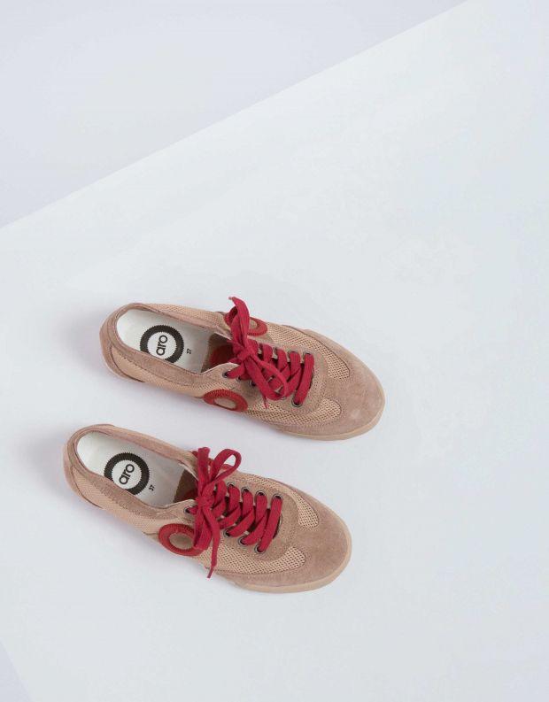 נעלי נשים - Aro - סניקרס JOANETA - בז'   אדום