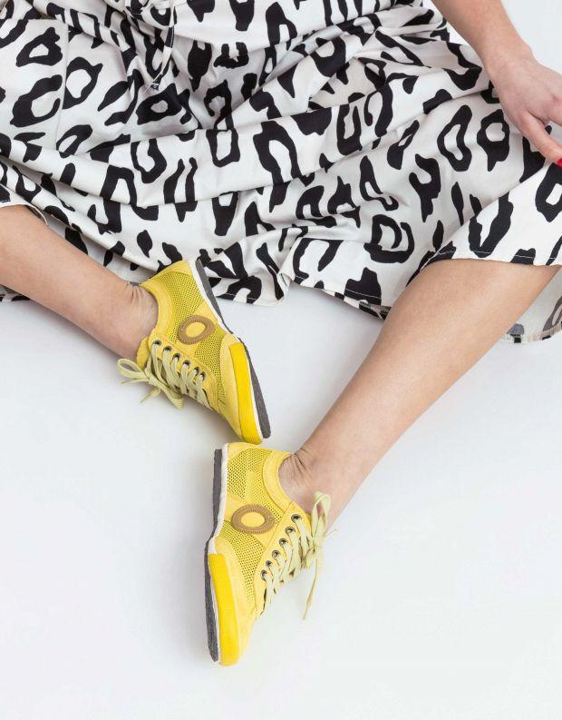 נעלי נשים - Aro - סניקרס JOANETA - צהוב