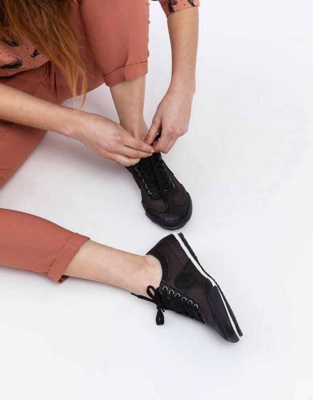 נעלי נשים - Aro - סניקרס JOANETA מנצנצות - שחור