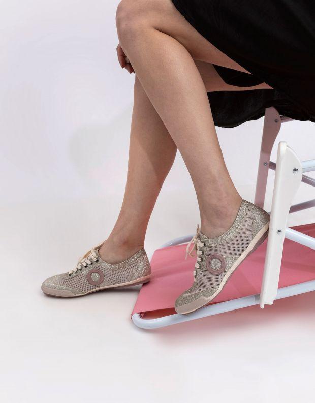 נעלי נשים - Aro - סניקרס JOANETA מנצנצות - זהב