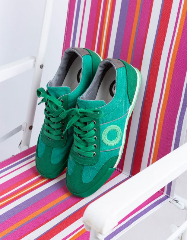נעלי נשים - Aro - סניקרס בד MAY - ירוק