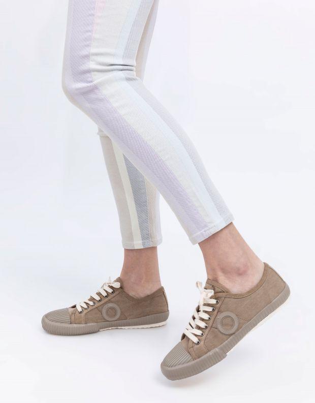 נעלי נשים - Aro - סניקרס בד CHARLIE - חום בהיר