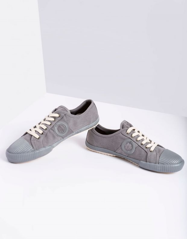 נעלי גברים - Aro - סניקרס בד CHARLIE - אפור בהיר