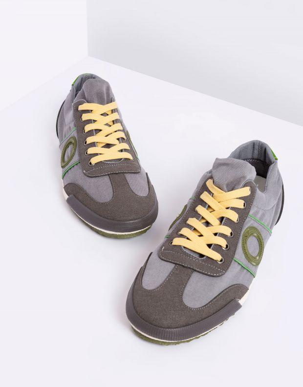 נעלי גברים - Aro - סניקרס בד MAY - אפור בהיר