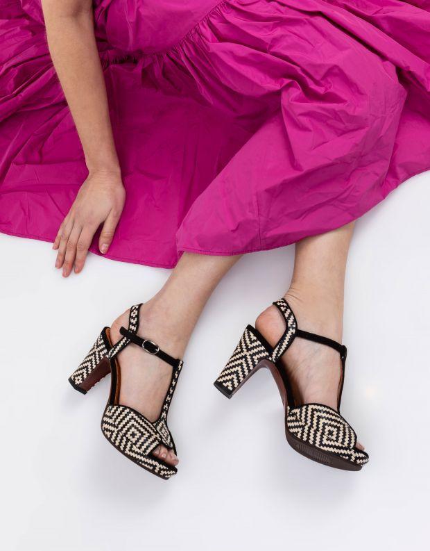 נעלי נשים - Chie Mihara - סנדל EDUNI - שחור לבן