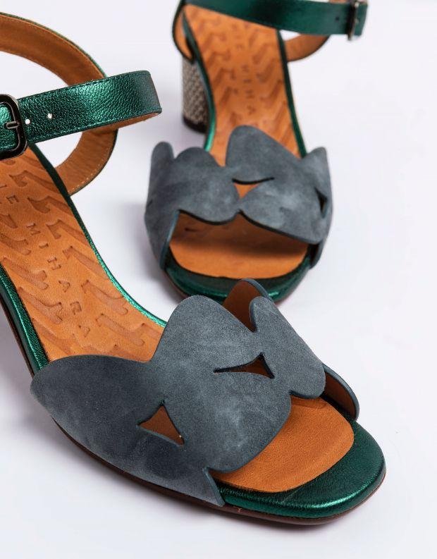 נעלי נשים - Chie Mihara - סנדל LORAN - אפור   ירוק