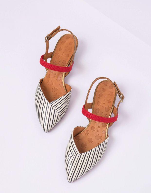 נעלי נשים - Chie Mihara - סנדל ROMANE - לבן   שחור