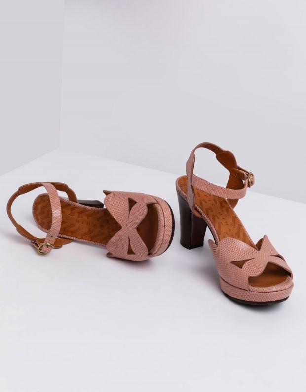 נעלי נשים - Chie Mihara - סנדלי עקב EDANA - ורוד