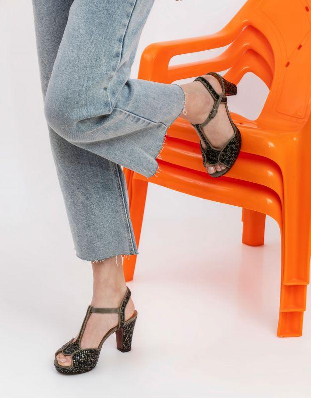 נעלי נשים - Chie Mihara - סנדל EDUNI - אפור   שחור