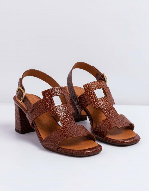 נעלי נשים - Chie Mihara - סנדלי עקב LUSCA - חום