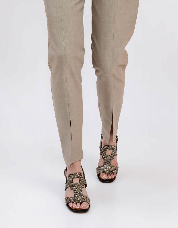 נעלי נשים - Chie Mihara - סנדלי עקב LUSCA - שחור לבן