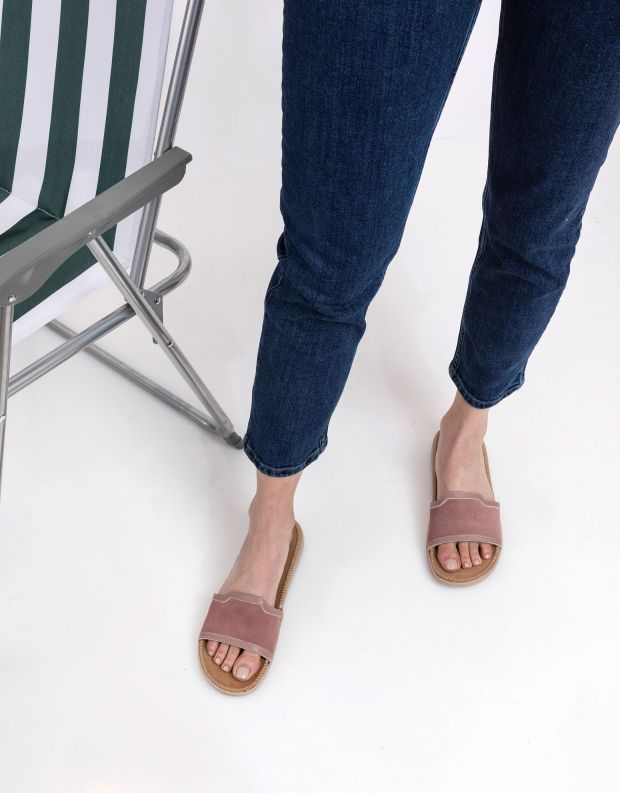 נעלי נשים - Lovelies - כפכפי זמש רצועה רחבה BODR - ורוד