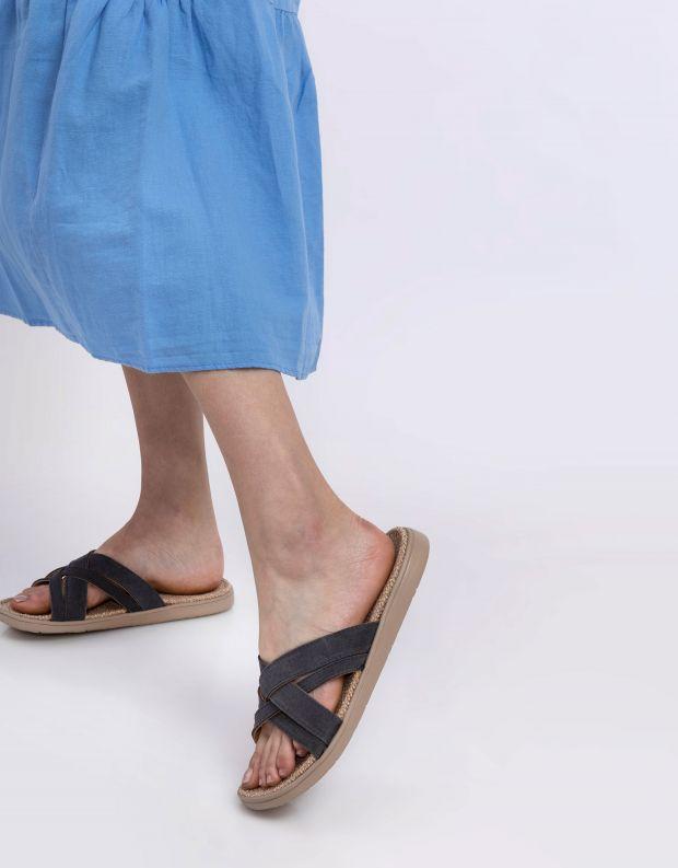 נעלי נשים - Lovelies - כפכפי זמש איקס CAVALLET - אפור