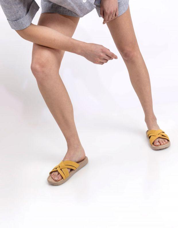 נעלי נשים - Lovelies - כפכפי זמש איקס CAVALLET - צהוב
