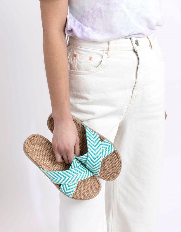 נעלי נשים - Lovelies - כפכפי בד איקס FORMENTERA - תכלת