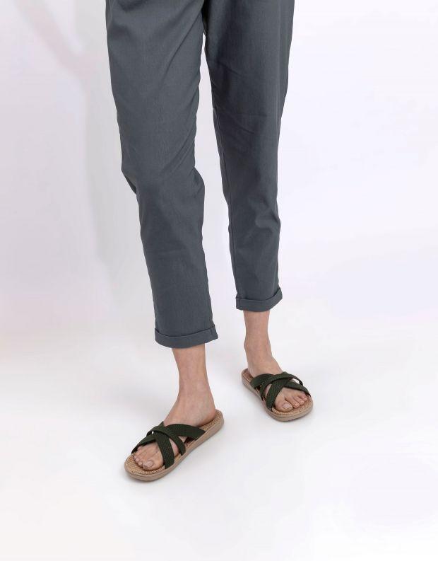 נעלי נשים - Lovelies - כפכפי רצועות מבד WELIGAMA - ירוק