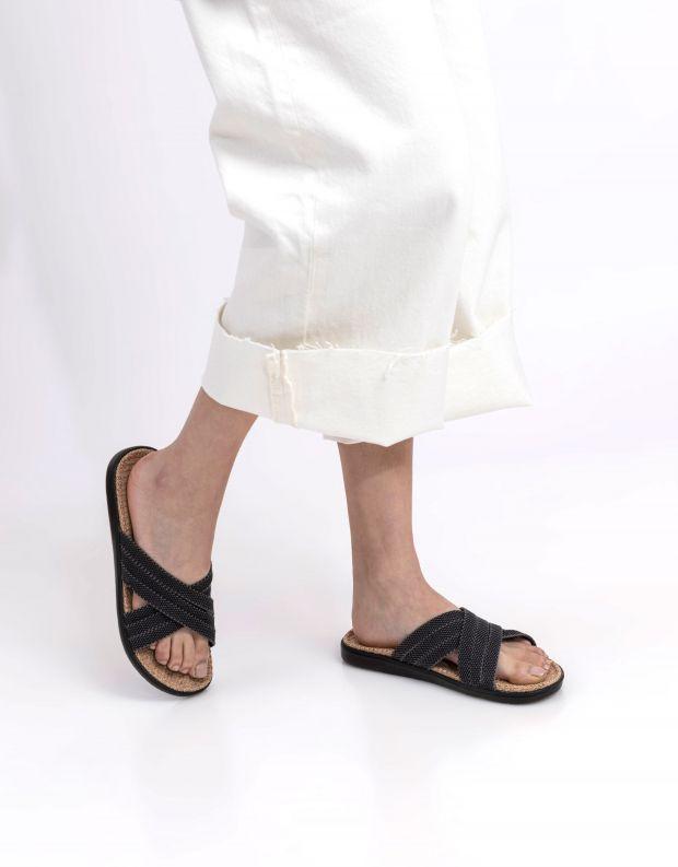 נעלי נשים - Lovelies - כפכפי בד POLHENA - שחור