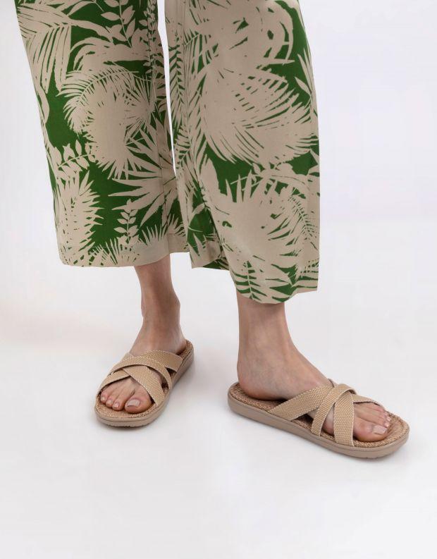 נעלי נשים - Lovelies - כפכפי רצועות מבד WELIGAMA - בז'