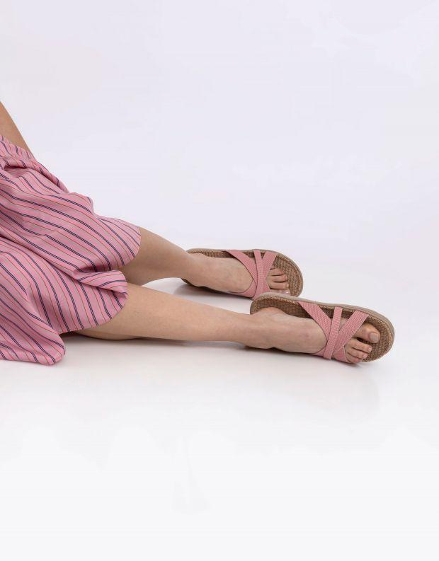 נעלי נשים - Lovelies - כפכפי רצועות מבד WELIGAMA - ורוד