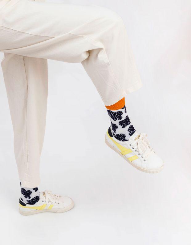 נעלי נשים - Gola - סניקרס TENNIS MARK COX - לבן   צהוב