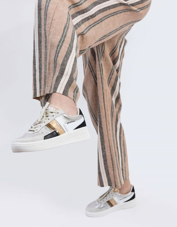 נעלי נשים - Gola - סניקרס GRANDSLAM MODE - כסף