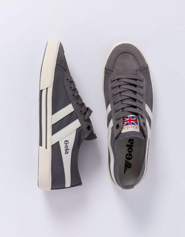 נעלי גברים - Gola - סניקרס SUPER QUARTER - אפור   לבן