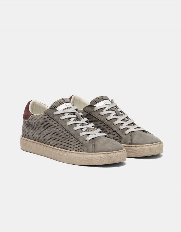 נעלי גברים - Crime London - סניקרס LOW TOP ESSENTIAL - אפור