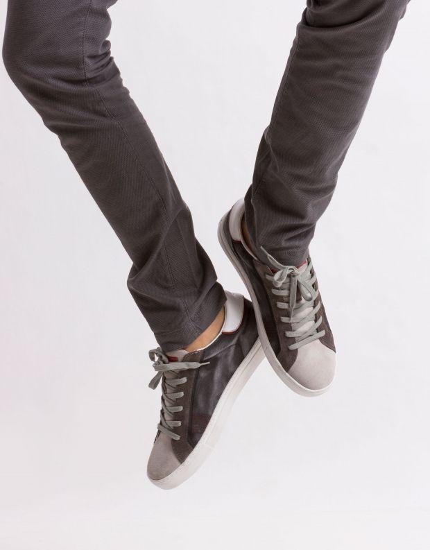 נעלי גברים - Crime London - סניקרס BEAT משולב - שחור אפור
