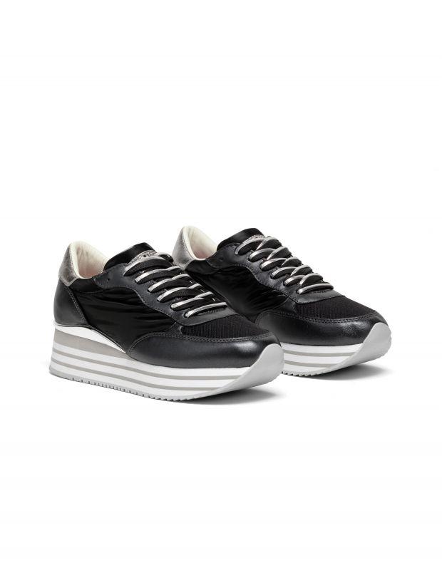 נעלי נשים - Crime London - סניקרס STRIPE RUNNER  פלט - שחור