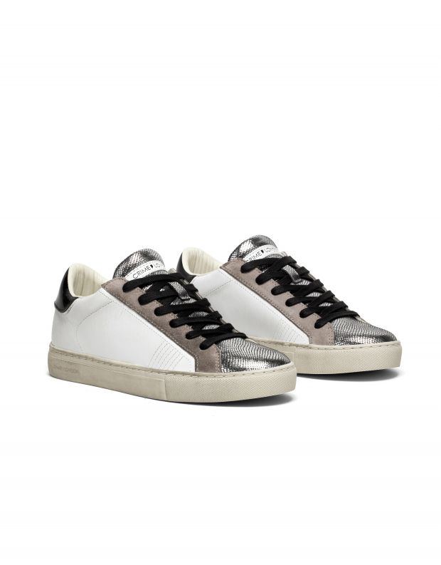 נעלי נשים - Crime London - סניקרס LOW TOP ESSENTIAL - לבן