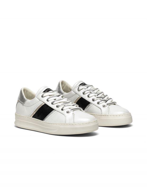 נעלי נשים - Crime London - סניקרס LOW TOP CLASSIC - לבן   שחור