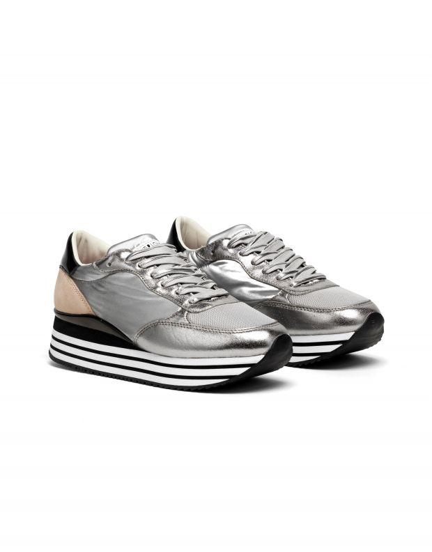 נעלי נשים - Crime London - סניקרס STRIPE RUNNER  פלט - כסף