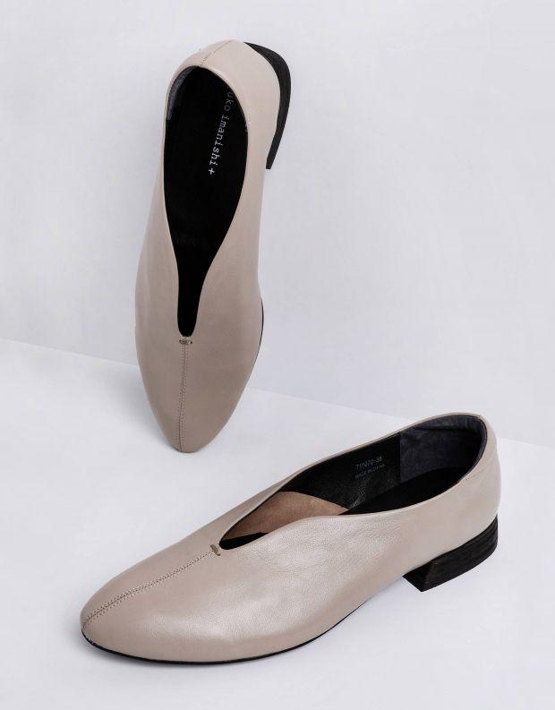 נעלי נשים - Yuko Imanishi - נעלי סירה שטוחות MIYU - אפור