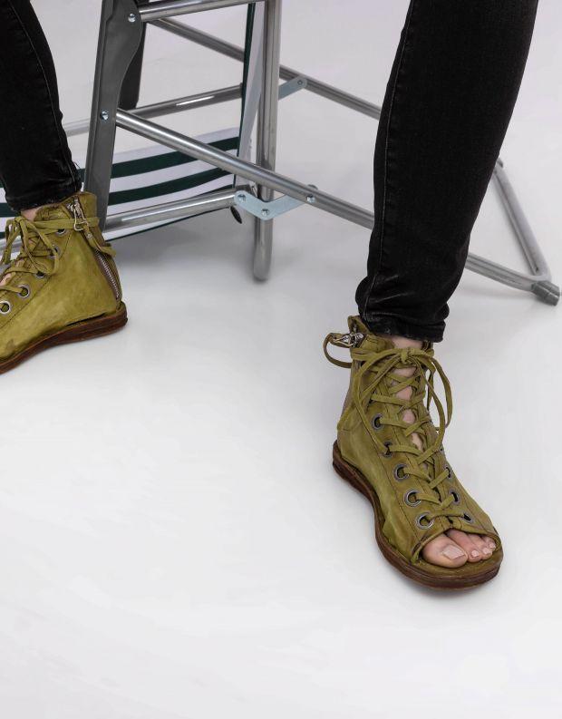 נעלי נשים - A.S. 98 - סנדל גבוה RAMOS שרוך - ירוק