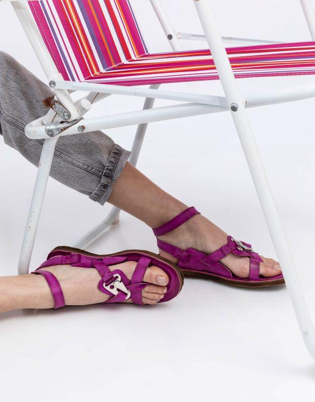 נעלי נשים - A.S. 98 - סנדלי קולר RAMOS - פוקסיה