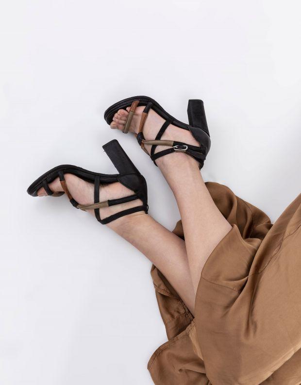 נעלי נשים - A.S. 98 - סנדלי עקב BASILE - שחור