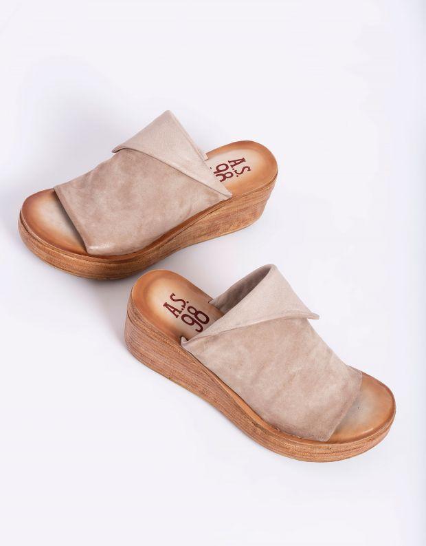נעלי נשים - A.S. 98 - כפכפי פלטפורמה NOA - אפור