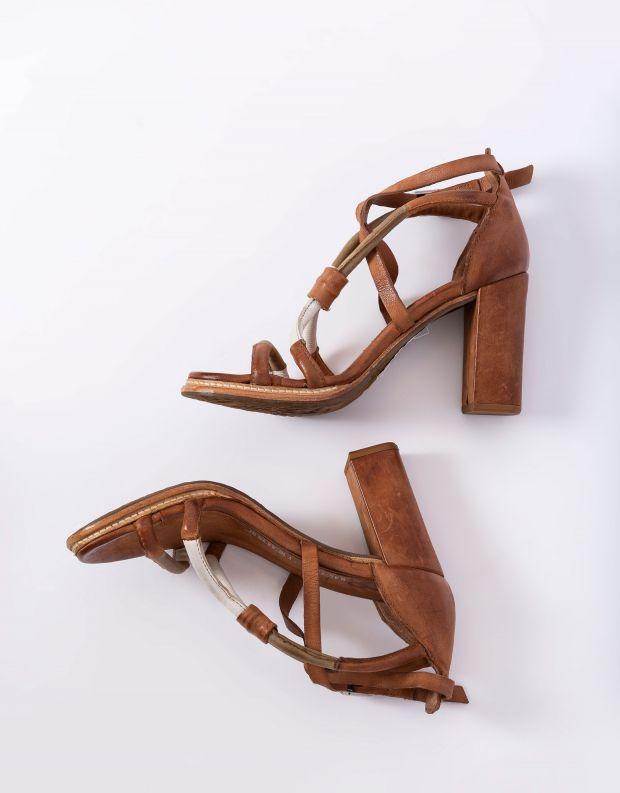 נעלי נשים - A.S. 98 - סנדלי עקב BASILE - חום