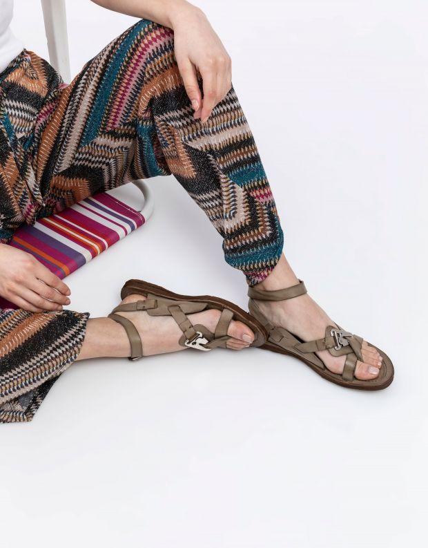 נעלי נשים - A.S. 98 - סנדלי קולר RAMOS - חאקי