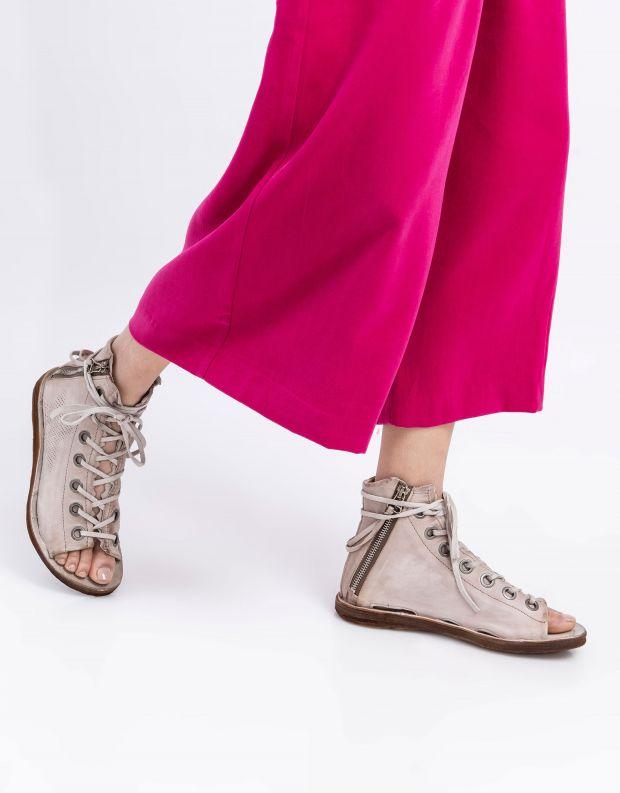 נעלי נשים - A.S. 98 - סנדל גבוה RAMOS שרוך - אפור