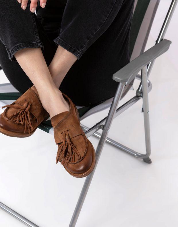 נעלי נשים - A.S. 98 - מוקסינים ZEPORT - חום