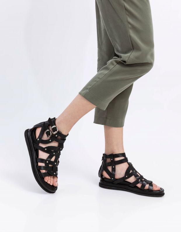 נעלי נשים - A.S. 98 - סנדלי רצועות וניטים POLA - שחור