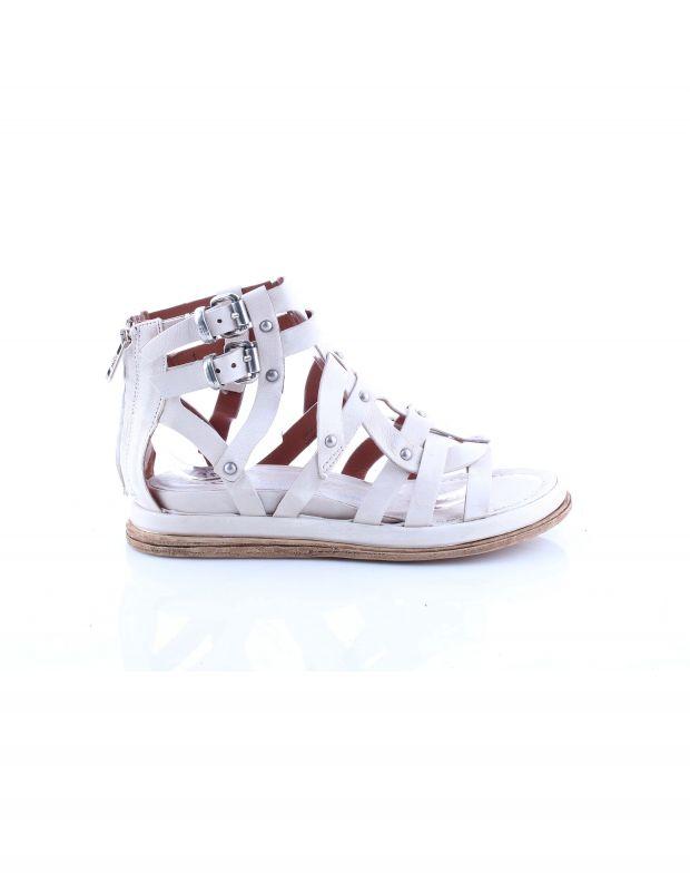 נעלי נשים - A.S. 98 - סנדלי רצועות וניטים POLA - לבן