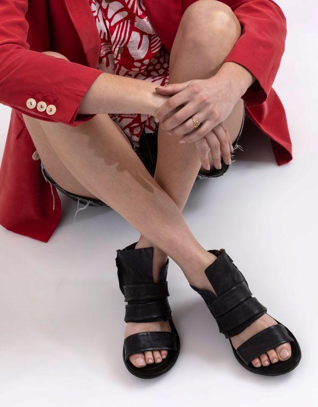 נעלי נשים - A.S. 98 - סנדל KENYA רוכסן - שחור